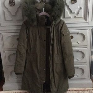 1 Madison Army Green Down Coat